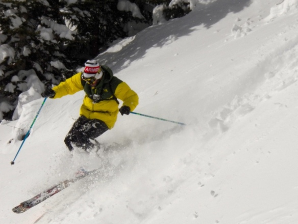 Robbie Mahre, snowcat skiing with the San Juan Ski Compaby